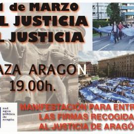MANIFESTACIÓN ENTREGA DE FIRMAS SANEAMIENTO DEL AGUA