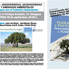 Coloquio. Teruel: Biodiversidad, geodiversidad y amenazas ambientales.