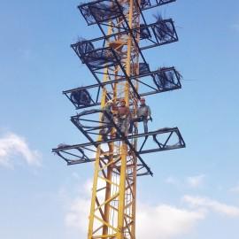 Acondicionando 20 plataformas artificiales para la cigüeña blanca en Calatorao