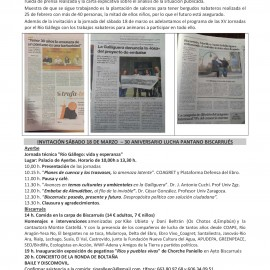 30 Aniversario lucha pantano Biscarrués