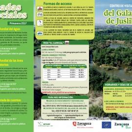 Galacho de Juslibol. Actividades Primavera 2017
