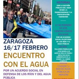 Encuentro de Zaragoza por un Acuerdo Social en Defensa de los Ríos y del Agua Pública,