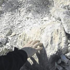 Un yacimiento de huellas «único» sin proteger por falta de fondos