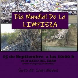 Día Mundial de la limpieza. Recogida de residuos en Cantalobos