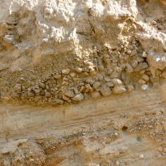 Sedimentación cranodecreciente en depósito de barranco