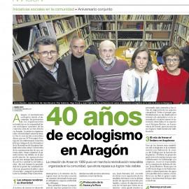 40 AÑOS DE ECOLOGISMO EN ARAGÓN: LOGROS Y RETOS DE FUTURO.