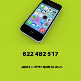 Nuevo teléfono móvil: 622 482 517