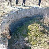 Erosión en los yesos del Mioceno en una dolina