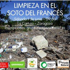 LAS ASOCIACIONES ECOLOGISTAS LIMPIAN DE PLÁSTICO EL EBRO