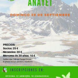EXCURSIÓN AL ANAYET (DOMINGO 29 DE SEPTIEMBRE)