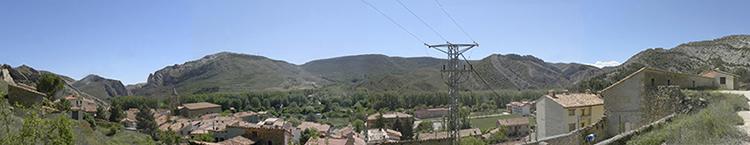 Vista panoramica de los pliegues de Aliaga