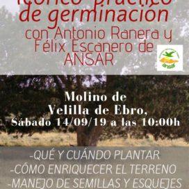 TALLER TEÓRICO-PRÁCTICO DE GERMINACIÓN (SÁBADO 14 DE SEPTIEMBRE)