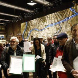 Las entidades sociales escenifican su rechazo al presupuesto del gobierno de Aragón