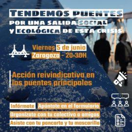 Movilización simbólica en Zaragoza