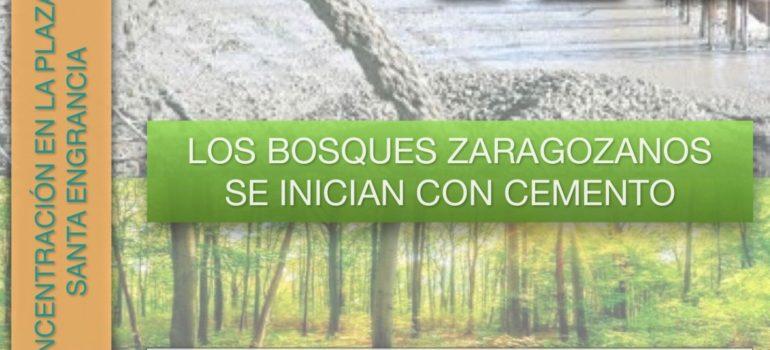 Los bosques zaragozanos se llenan de cemento. No al parquin de Salamero.
